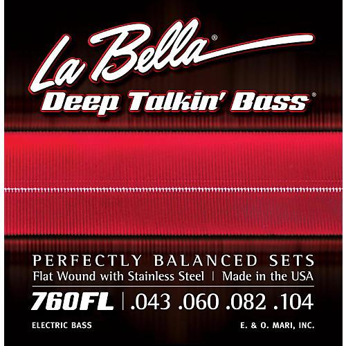 LaBella 760FL Deep Talkin' Bass Flat Wound Light Electric Bass Strings