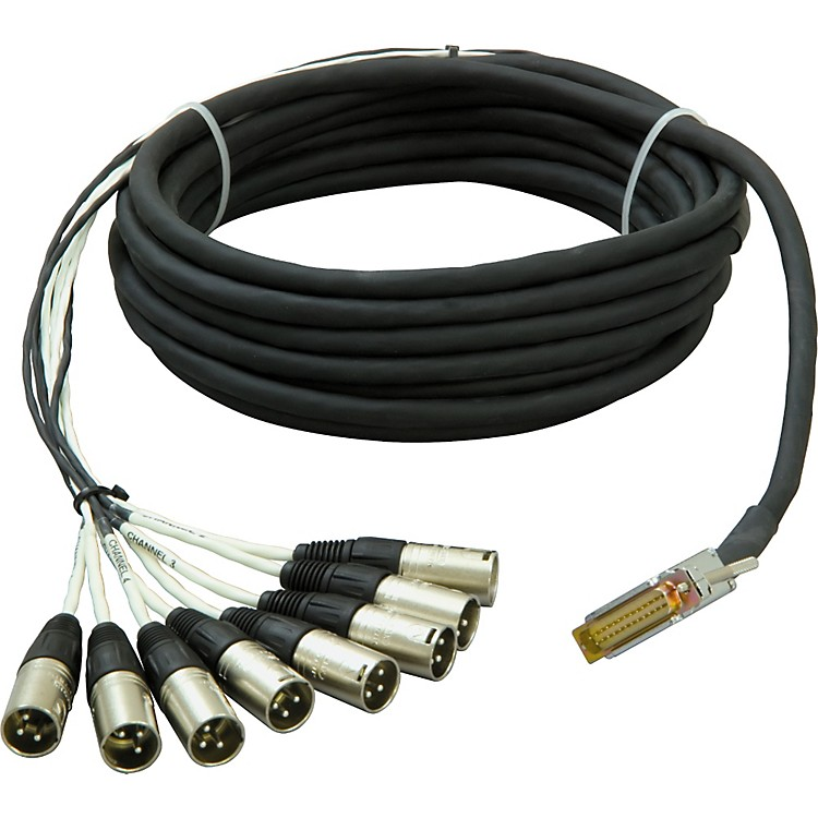 Live Wire 8-Channel DSUB-XLR(M) Snake  5 Foot
