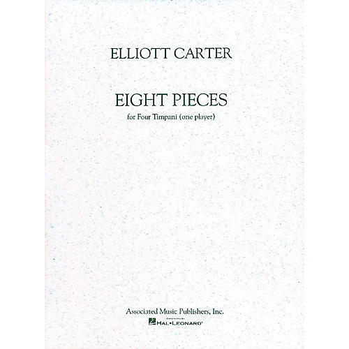 Associated 8 Pieces for 4 Timpani (One Player) Marching Band Percussion Series Composed by Elliott Carter-thumbnail
