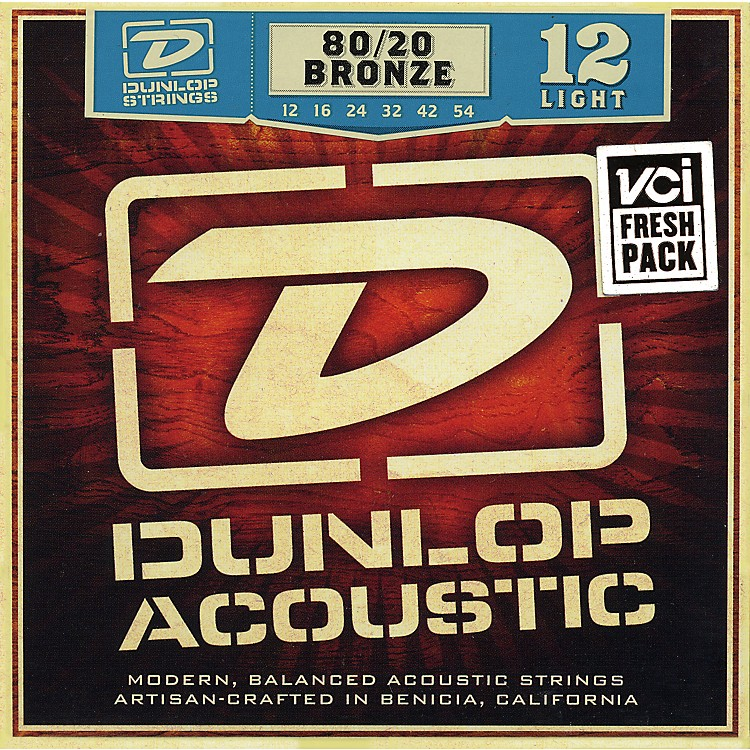 Dunlop 80/20 Bronze Light Acoustic Guitar Strings