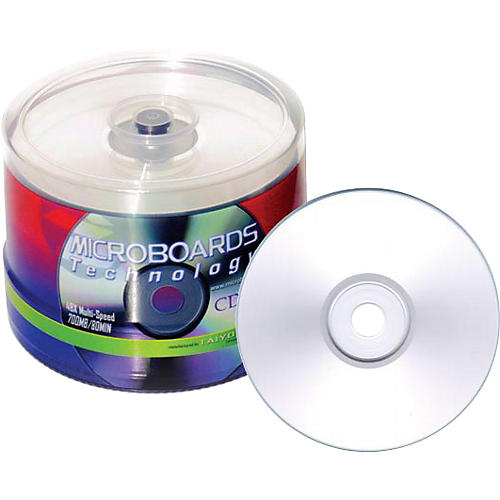 Taiyo Yuden 80 Minute/700 MB CD-R, 52X, Silver Inkjet Printable, 100 Disc Spindle-thumbnail