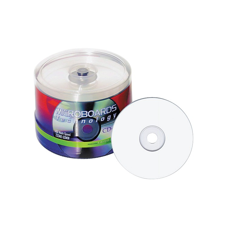 Taiyo Yuden80 Minute/700MB CDR, 52X, White Inkjet Printable, 100 Disk Spindle