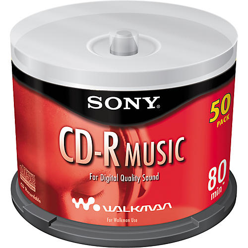 Sony 80-Minute CD-R Music Spindle (50 pack)-thumbnail