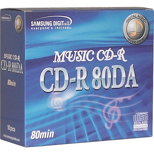 Samsung 80-Minute DA CDR/10-Pack in Slimline Cases-thumbnail