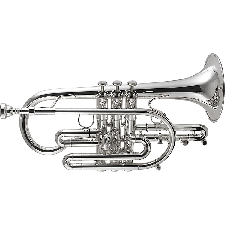 Getzen 800 Eterna Series Bb Cornet 800S Silver Yellow Brass Bell .460 Bore