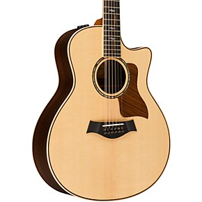 taylor 800 series 856ce grand symphony acoustic electric 12 string guitar natural musician 39 s. Black Bedroom Furniture Sets. Home Design Ideas