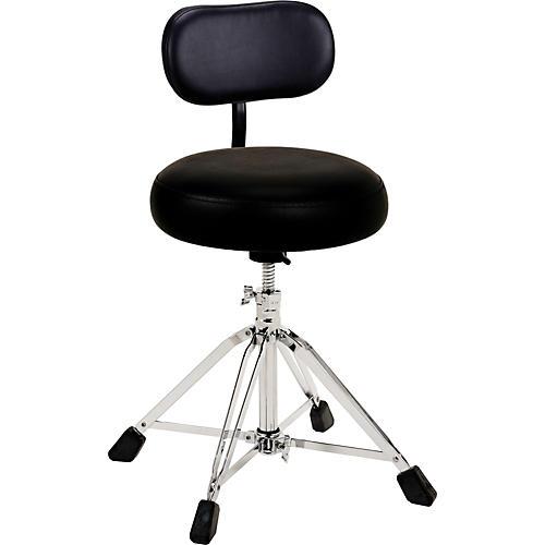 DW 8000 Series 4-Leg Round Drum Throne with Backrest