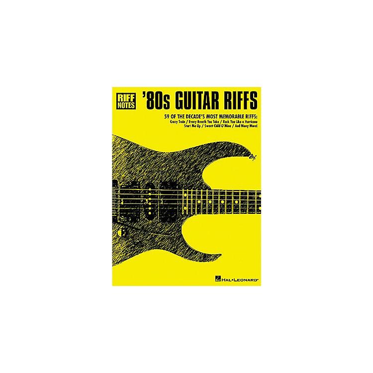 Hal Leonard 80s Guitar Riffs Guitar Tab Book : Musicianu0026#39;s Friend