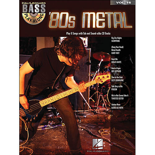 Hal Leonard 80s Metal Bass Play-Along Volume 16 Book/CD