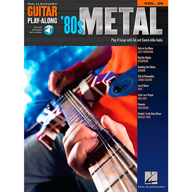 Hal Leonard 80s Metal Guitar Play-Along Series Volume 39 Book with CD