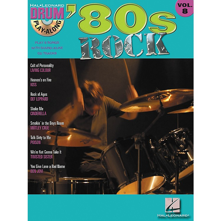 Hal Leonard '80s Rock Drum Play-Along Volume 8 - Book/CD