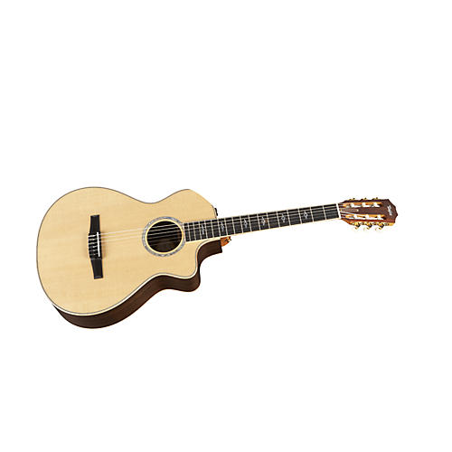 Taylor 812ce-N Rosewood/Spruce Nylon String Grand Concert Acoustic-Electric Guitar