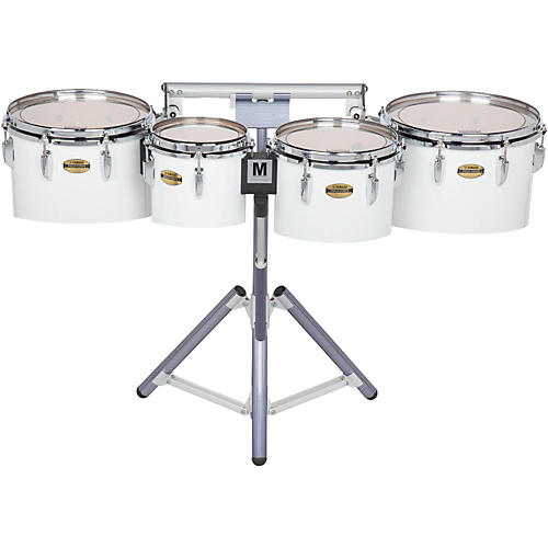 Yamaha 8300 Series Field-Corp Series Marching Tenor Quad 8/10/12/13 in. White wrap