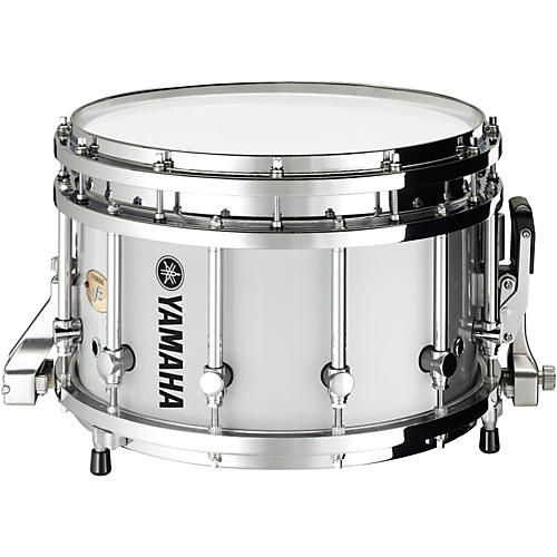 Yamaha 8300 Series Piccolo SFZ marching snare drum 14 x 9 in. White with Chrome Hardware