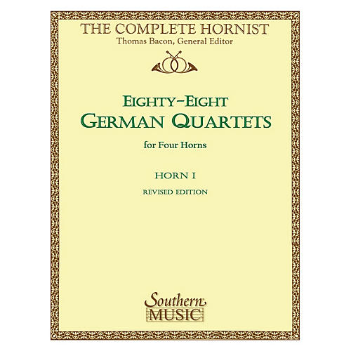 Southern 88 German Quartets (Horn Quartet - Horn 1) Southern Music Series Arranged by Thomas Bacon-thumbnail