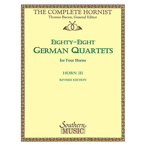Southern 88 German Quartets (Horn Quartet - Horn 3) Southern Music Series Softcover Arranged by Thomas Bacon-thumbnail