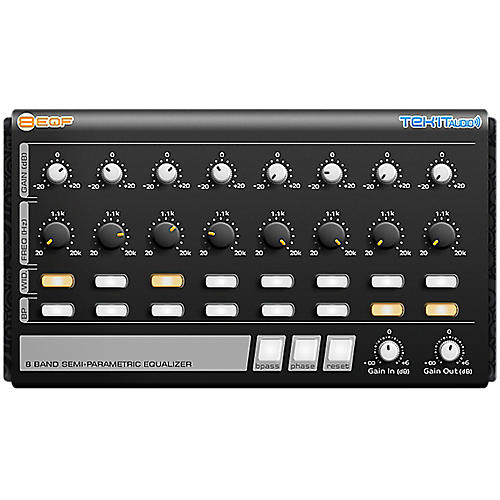 Tek'it Audio 8EQF 8-Band Semi-Parametric Equalizer Plug-in