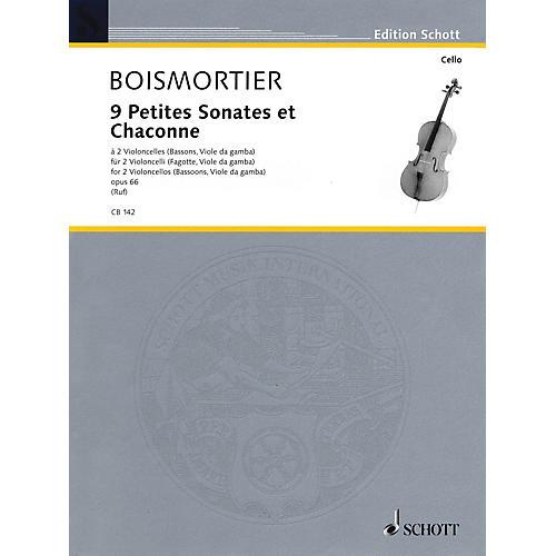 Schott 9 Little Sonatas and Chaconnes (2 Cellos) Schott Series-thumbnail
