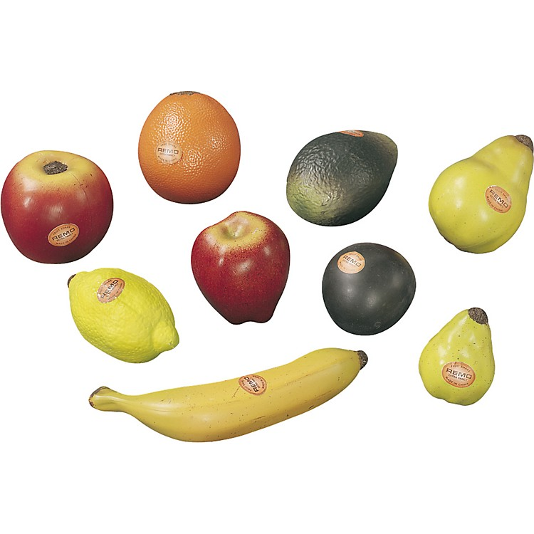 Remo 9-Piece Assorted Fruit Shakers  9-Piece