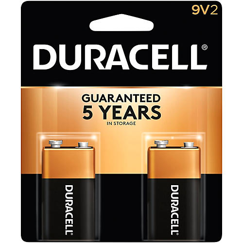 Duracell 9-Volt Batteries 2-Pack