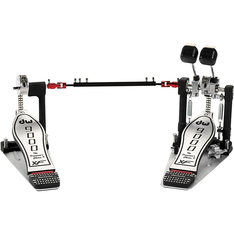 DW9000 Series Double Bass Drum Pedal with eXtended Footboard