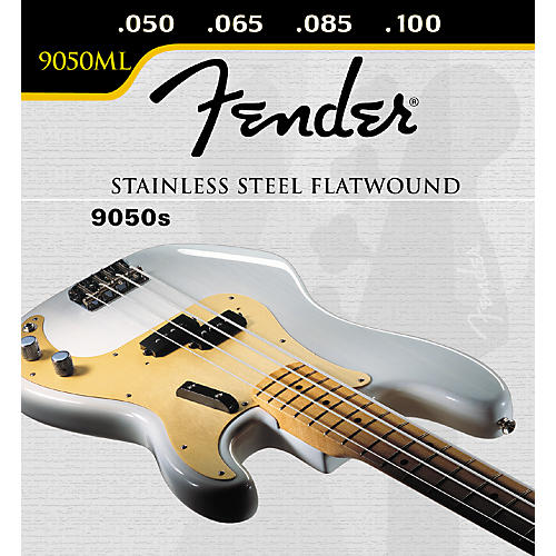 Fender 9050ML Stainless Flatwound Bass Strings-thumbnail