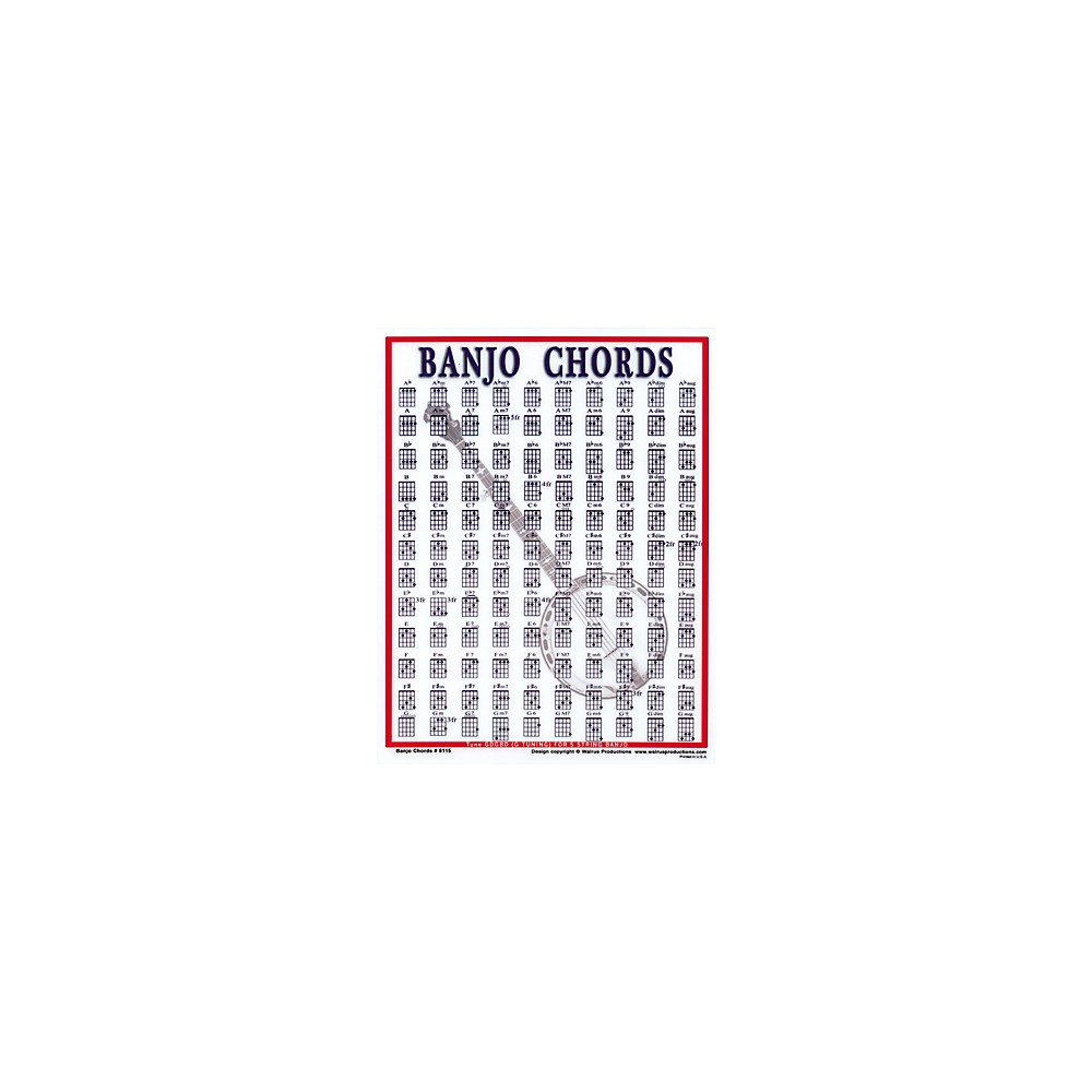 Price search results for Walrus Productions Banjo Chord Mini Chart