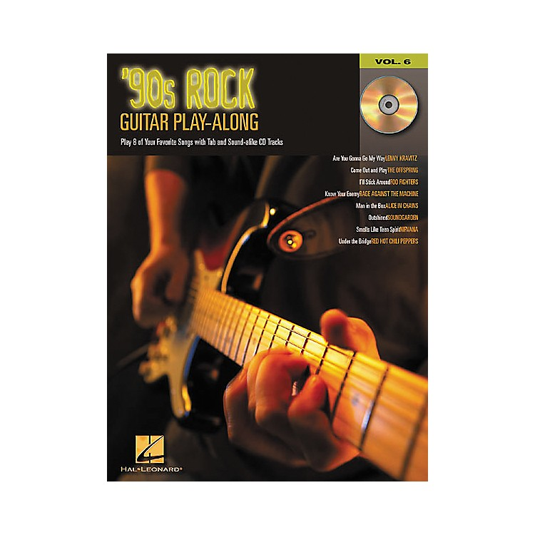 Hal Leonard 90s Rock Guitar Play-Along Series Book with CD