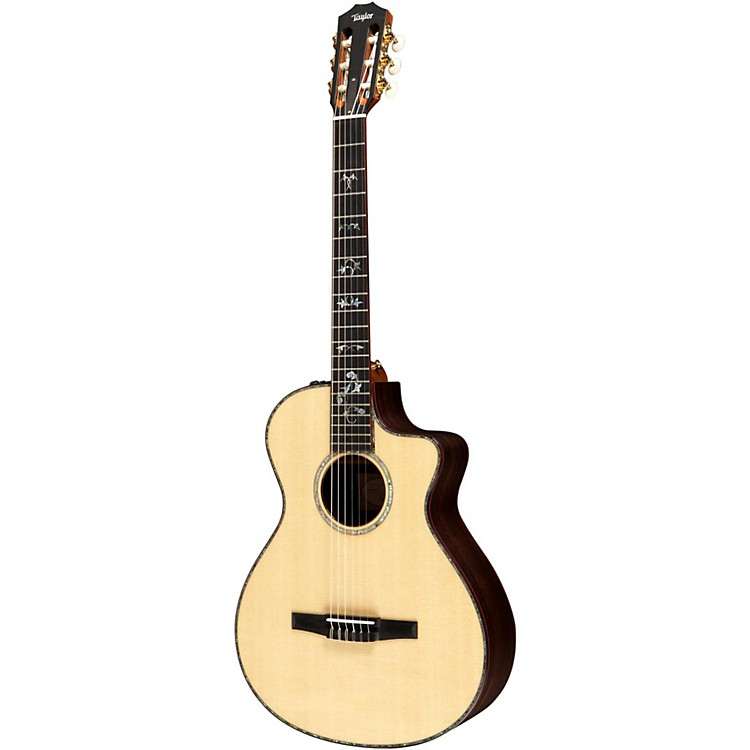 Taylor 912ce-N Rosewood/Spruce Nylon String Grand Concert Acoustic-Electric Guitar Natural