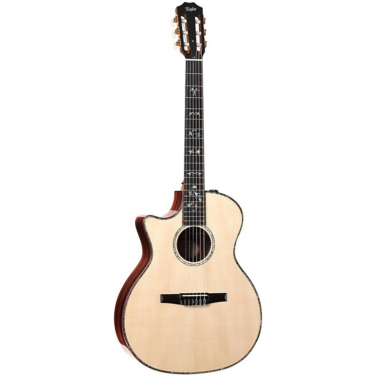 Taylor 914ce-N-L Rosewood/Spruce Nylon String Grand Auditorium Left-Handed Acoustic-Electric Guitar