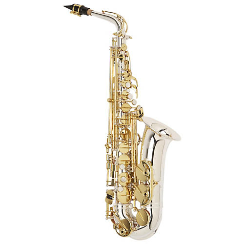 Jupiter 969 Silver-Series Intermediate Alto Saxophone Sterling Silver Neck, Silver Plated Body
