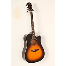 Open BoxHohner A+ AS355CE Solid Top Cutaway Dreadnought Acoustic-Electric Guitar With Gig Bag