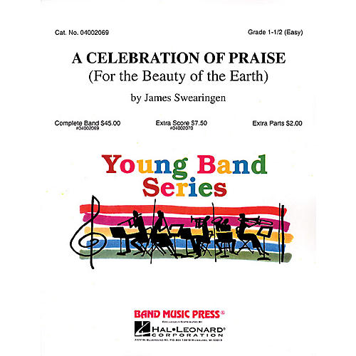 Hal Leonard A Celebration of Praise (For the Beauty of the Earth) Concert Band Level 1.5 Arranged by James Swearingen