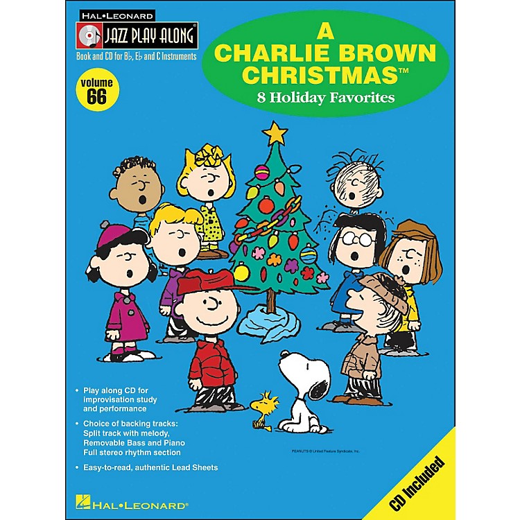 Hal Leonard A Charlie Brown Christmas - Jazz Play-Along Volume 66 BookCD