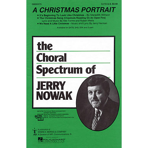 Hal Leonard A Christmas Portrait (Medley) SATB arranged by Jerry Nowak