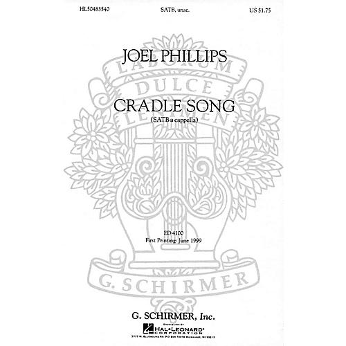 G. Schirmer A Cradle Song (SATB a cappella) SATB DV A Cappella composed by Joel Phillips-thumbnail