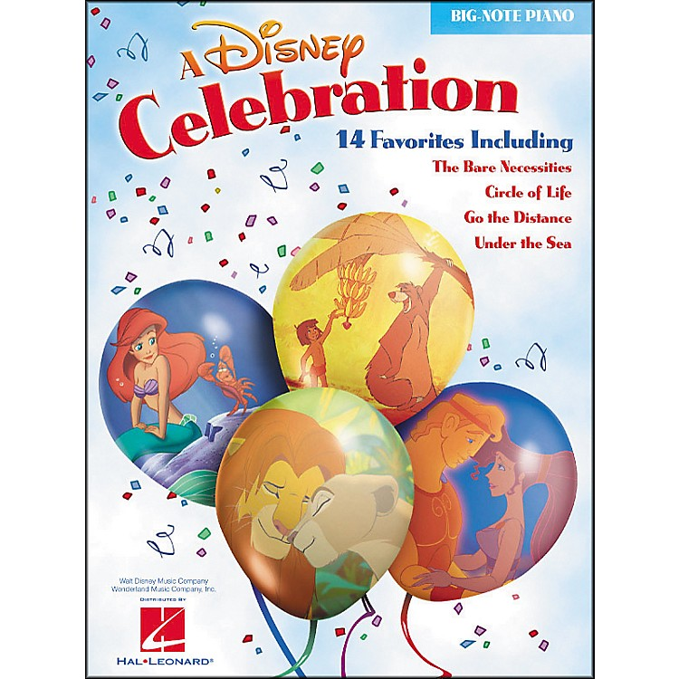 Hal LeonardA Disney Celebration for Big Note Piano