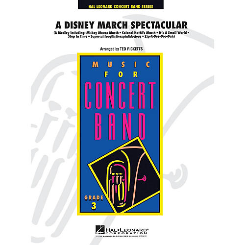 Hal Leonard A Disney March Spectacular - Young Concert Band Level 3 by Ted Ricketts-thumbnail