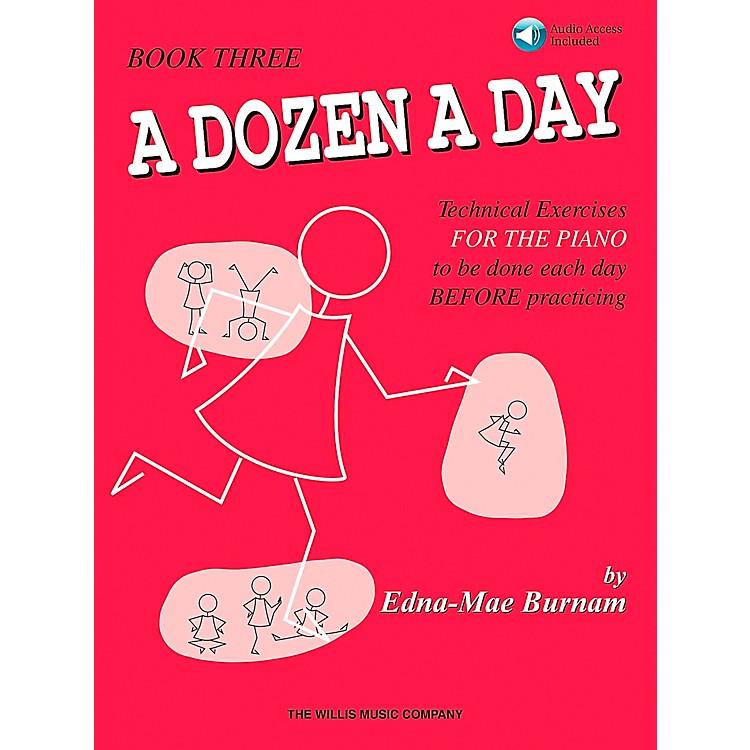 Willis MusicA Dozen A Day Book 3 Book/CD Technical Exercises for The Piano