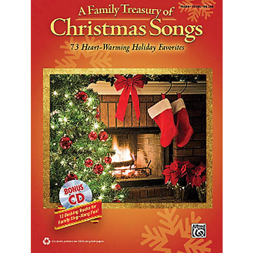 Hal Leonard A Family Treasury Of Christmas Songs Piano/Vocal/Guitar With Bonus CD
