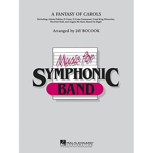 Hal Leonard A Fantasy Of Carols Concert Band Level 4 Arranged by Jay Bocook-thumbnail