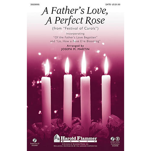 Shawnee Press A Father's Love, A Perfect Rose (from Festival of Carols) SATB arranged by Joseph M. Martin-thumbnail