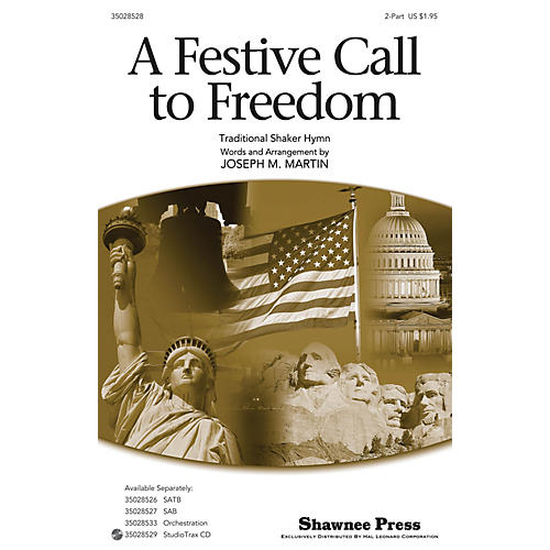 Shawnee Press A Festive Call to Freedom 2-Part composed by Joseph Martin-thumbnail