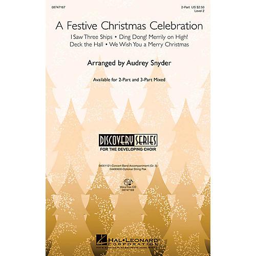 Hal Leonard A Festive Christmas Celebration 3-Part Mixed Arranged by John Moss
