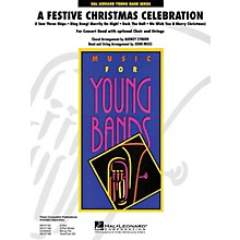 Hal Leonard A Festive Christmas (Concert Band with Opt. Choir and Strings) - Young Concert Band Level 3 by John Moss