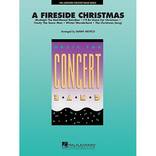 Hal Leonard A Fireside Christmas Concert Band Level 4 Arranged by Sammy Nestico-thumbnail
