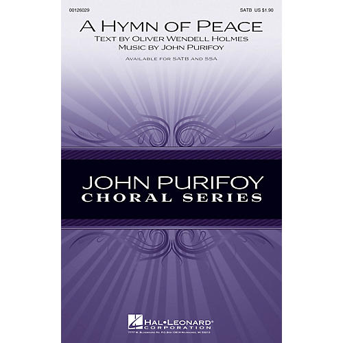 Hal Leonard A Hymn of Peace SATB composed by John Purifoy