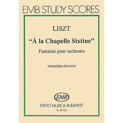 Editio Musica Budapest A La Chapelle Sixtine-mnsc EMB Series by Franz Liszt-thumbnail