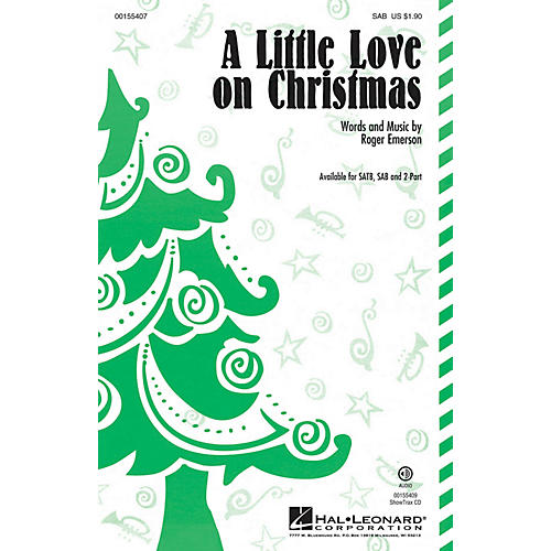 Hal Leonard A Little Love on Christmas SAB composed by Roger Emerson-thumbnail