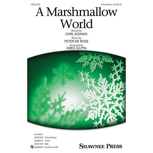 Shawnee Press A Marshmallow World 3-Part Mixed arranged by Greg Gilpin-thumbnail